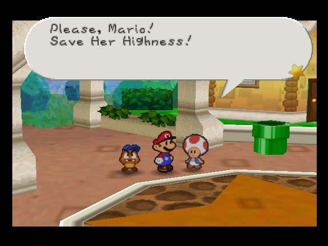 Paper Mario - r u calling peach high?! - User Screenshot